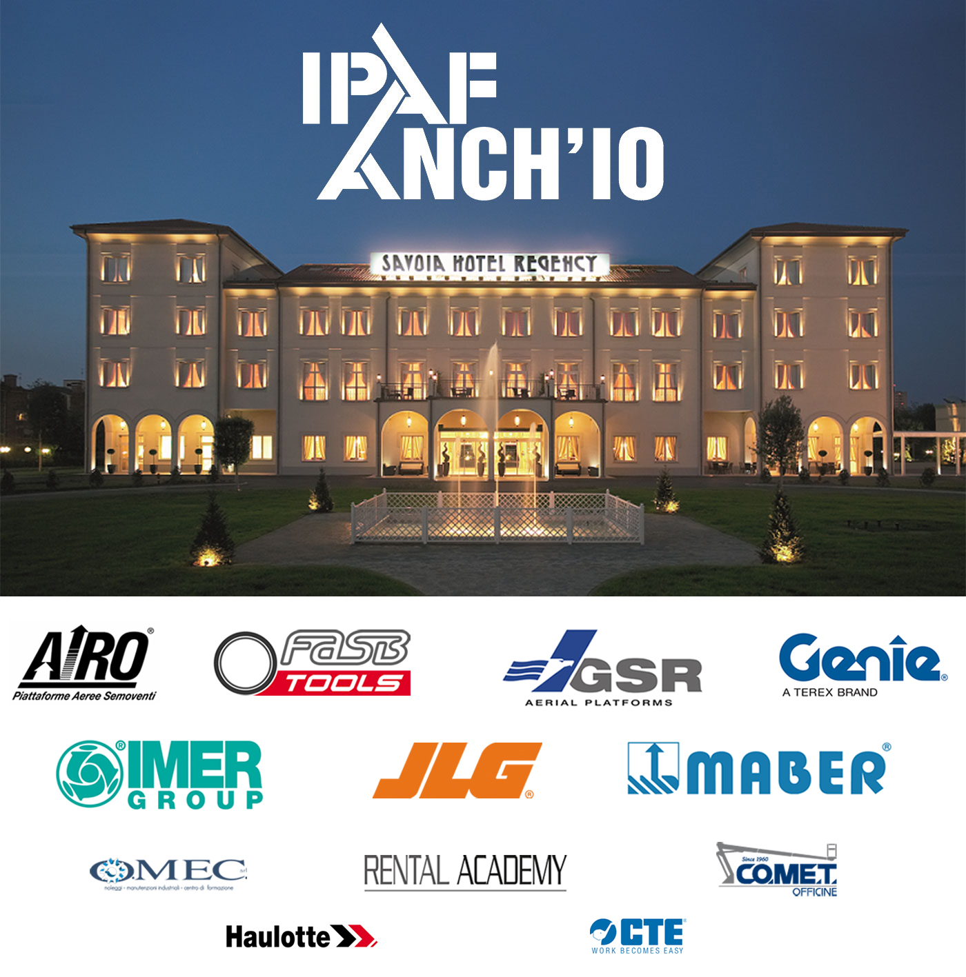 IPAF ANCH'IO at Savoia Hotel Regency, Bologna, Italy