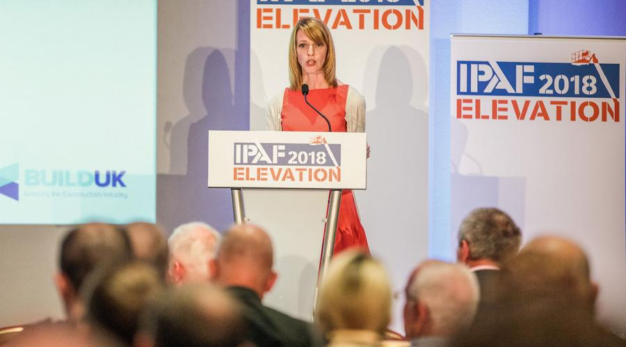 IPAF Elevation Event 2018 - Jo Faultley from Build UK