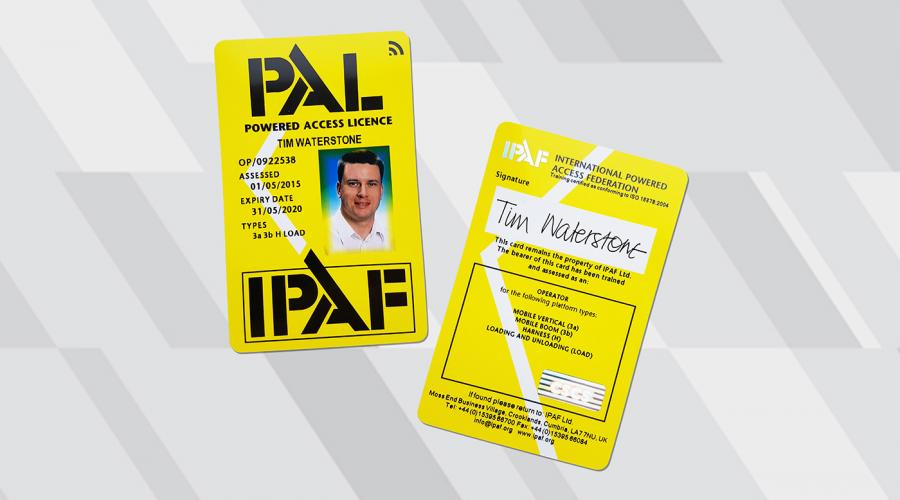 IPAF PAL Card with CSCS