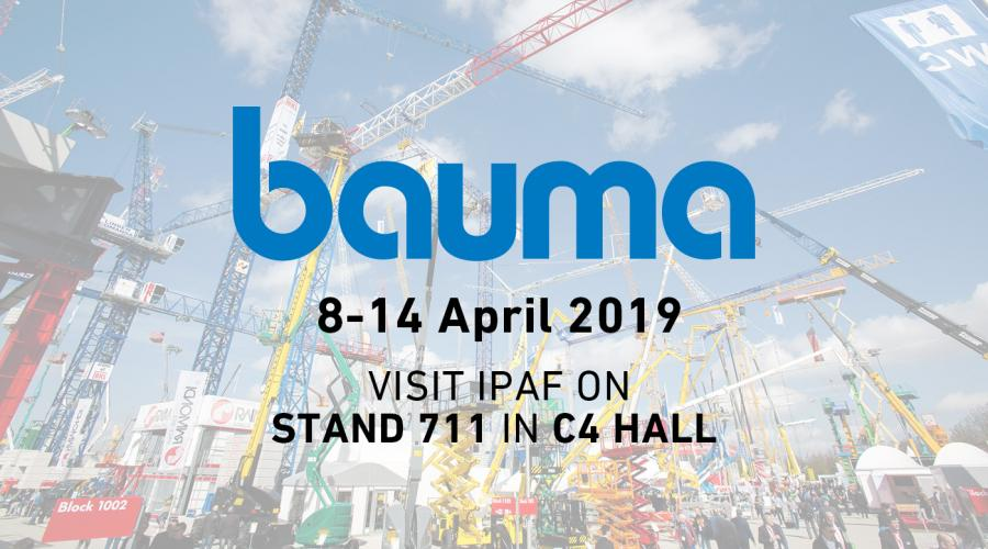 bauma 2019 - visit IPAF on stand 711 in C4 hall