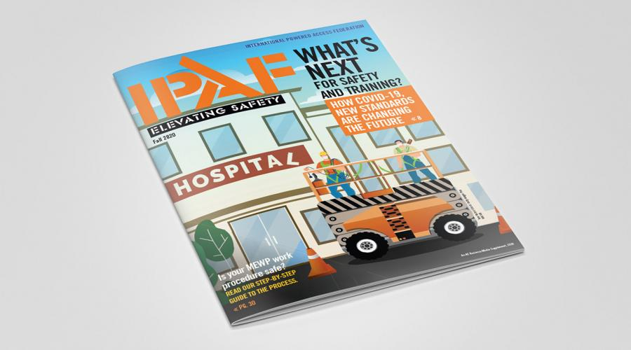 IPAF Elevating Safety 2020 magazine cover