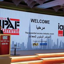 IPAF Summit 2019 in Dubai, with Tim Whiteman Introducing the Conference