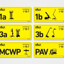 MEWP 1a, 1b, 3a, 3b, MCWP and PAV Category Stickers
