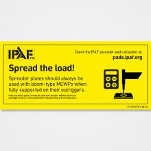 Spread the load! Spreader plates should always be used with boom-type MEWPs when fully supported on their outriggers.