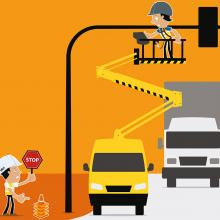 Andy Access: Be street smart! Manage vehicle and pedestrian traffic. Create a safe working zone.